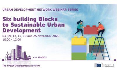 UDN WEBINARS: SIX BUILDING BLOCKS TO SUSTAINABLE URBAN DEVELOPMENT